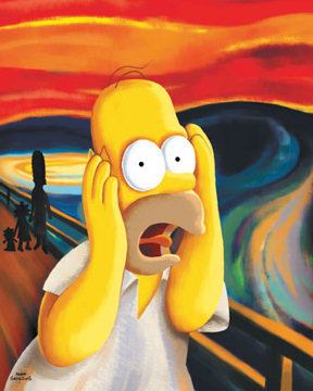homer - the scream