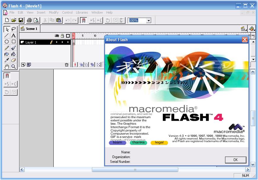 Интерактивность flash-фильмов реализуется путем описания соответствующих действий в виде последовательности команд